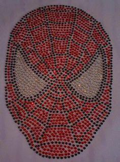 Strass Bügelbild Spiderman