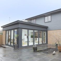 Bungalow Extensions, House Exterior, Rooftop Terrace Design, Orangery, Garden Bedroom, Aluminum Patio, Patio Design, Flat Roof Extension, Garden Room Extensions
