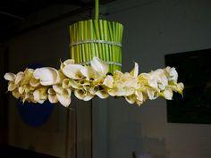 White calla lily chandelier.