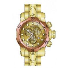Invicta Venom Chronograph Gold Dial Gold-tone PVD Mens Watch 13895