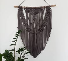 This item is not available, Macrame Wall Hanging / Macrame Wall Hanger / Tapestry / Tapestry / Modern Macrame Wall Decoration / Wall Deco. Macrame Wall Hanging Patterns, Macrame Art, Macrame Projects, Macrame Patterns, Chevron Friendship Bracelets, Yarn Wall Art, Crochet, Plant Hanger, Crafts