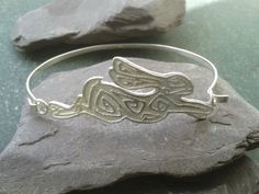 Silver hare bangle