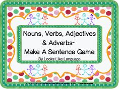 "Have fun learning the first steps to ""EDIT!"" silly sentences with 3 or 4 parts of speech. Adaptable for varied learners! Pictures support learning at Looks-Like-Language! $"