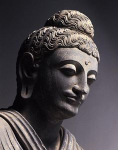 Standing Buddha Provenance Pakistan, Gandhara Period Second half of the 2nd century A.D. Materials Schist Dimensions H-250
