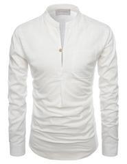 Mandarin Slit Linen Shirt – Louie Supply Co.