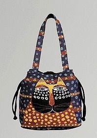 Laurel Burch drawstring bag