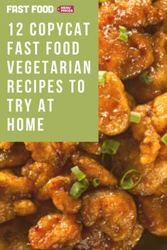 12 Copycat Vegetarian Fast Food Recipes To Try At Home - Fast Food Menu Prices Vegetarian Fast Food, Fast Food Menu, Vegan Friendly, Chana Masala, Main Dishes, Curry, Forget, Apps, Beef