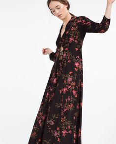 LONG DRESS WITH FLORAL PRINT-View All-DRESSES-WOMAN   ZARA United States