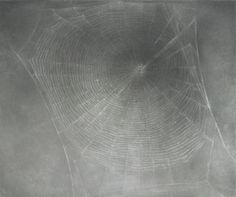 "Web #3 Vija Celmins (American, born Latvia 1938) 2000-02. Oil on linen, 15 x 18"""