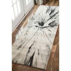 nuLOOM Abstract Splash Vintage Fancy Grey Runner Rug (2'8 x 8')
