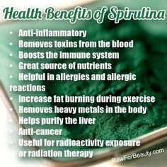 Health Benefits of Spirulina (vitamix smoothie recipes immune system) Health And Nutrition, Health And Wellness, Health Tips, Holistic Nutrition, Natural Cures, Natural Health, Natural News, Stomach Ulcers, Radiation Therapy