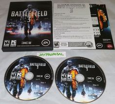 Battlefield 3 PC DVD Replacement Discs 1 & 2 Army War Strategy Action Combat