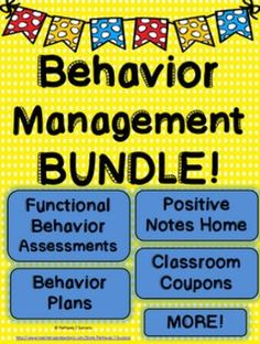 Behavior+Management+Bundle+-+Classroom+Management+Tools+-+Behavior+Plans+and+MoreSave+with+a+Bundle!Save+over+20%+by+buying+this+bundle+instead+of+the+products+individually.This+behavior+and+classroom+management+bundle+consists+of+130+pages+focused+specifically+on+behavior+and+classroom+management.