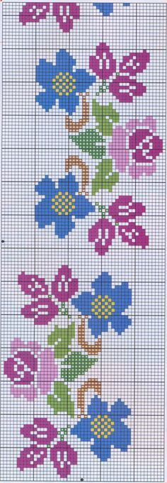 This Pin was discovered by Еле Cross Stitch Borders, Cross Stitch Flowers, Cross Stitch Charts, Cross Stitch Designs, Cross Stitching, Cross Stitch Patterns, Loom Beading, Beading Patterns, Embroidery Patterns