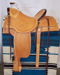 Custom handmade saddles including wades we have made. View various styles and hand tooling on custom saddles. Wade Saddles, Roping Saddles, Cowboy Gear, Leather Workshop, Horse Drawn, Horse Tack, Angelina Jolie, Saddle Bags, Westerns
