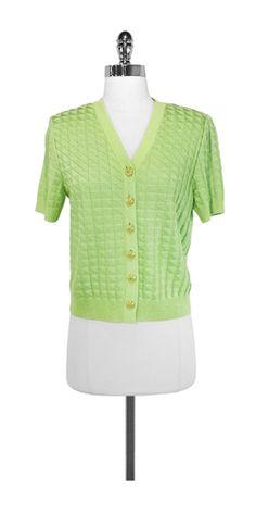 St. John Lime Green Sweater