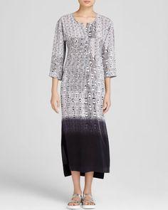Dkny Pure Dip Dye Silk Maxi Dress