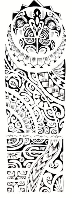 Polynesian tattoo pattern