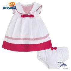 Vestido de bebe MAYORAL newborn marinero con braguita