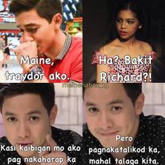 Aldub memes 7 Maine Mendoza, Alden Richards, Fantastic Baby, Pick Up Lines, Happy Thoughts, Chemistry, Heaven, Things To Come, Lol