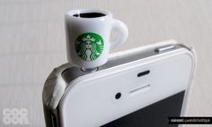 Accesorios para el teléfono con forma de cafés de Starbucks