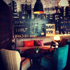 I.d cafe, Saigon, Vietnam, unique bar idea, great wall design
