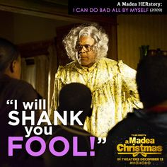 It's the Ghost of Madea Past!  She may not haunt you... but she WILL shank you.  A Madea Christmas - in theaters December 13!  #HoHoHo