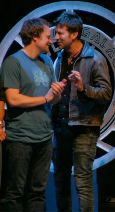 Joe Flanigan and David Hewlett #Stargate