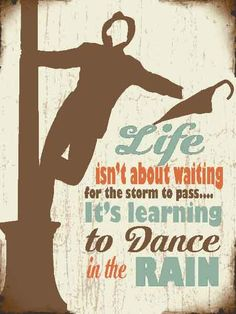 Learning to dance in the rain 80273 metal wall sign