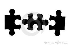 three puzzle piece | Three Different Black Puzzle Pieces Royalty Free Stock Photos - Image ...