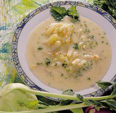 Karalábéleves vajasgaluskával – Receptletöltés Soup, Ethnic Recipes, 1, Soups