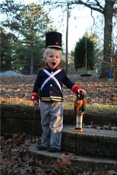 Homemade Toy Soldier/Nutcracker costume for toddler.