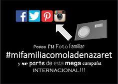 Únete a esta gran campaña  #mifamiliacomoladenazaret
