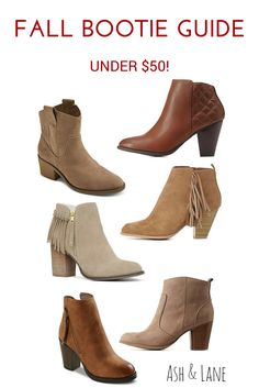 FALL BOOTIE GUIDE! Cute ankle boots for $50 and less
