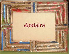 Andairadas: Marco hecho con rollitos de papel