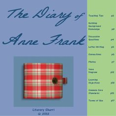"""A mini-unit on """"The Diary of Anne Frank"""" including scaffolded notes, discussion starters, graphic organizers, learning objectives, and common core standards. I teach """"The Diary of Anne Frank"""" in ELA while students are learning about WWII in Social Studies. The letter students write to Anne at the end of this mini-unit make a beautiful addition to their portfolios! #diaryofannefrank #middleschoolela"""