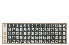 HOME Design :: Dekoracja ścienna, panel do bingo, drewno, 50,8x152,5 cm (JL77769)