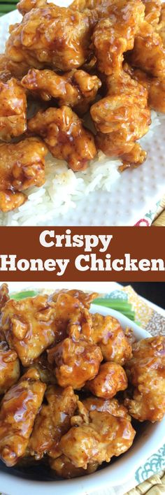 Crispy Honey Chicken - Together as Family(Chicken Dishes) Asian Recipes, New Recipes, Dinner Recipes, Cooking Recipes, Favorite Recipes, Healthy Recipes, Cooking Stuff, Family Recipes, Delicious Recipes