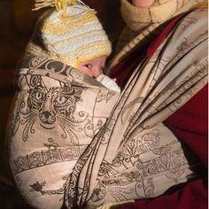 Fidella babywrap -Feline -almond- wool  https://fidella.org/