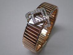 18kt pink gold bracelet with diamond
