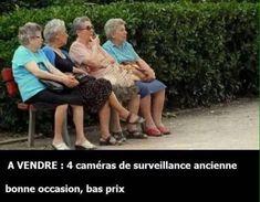 """""""A vendre : 4 caméras de surveillance anciennes, bonne occasion, bas prix"""""""