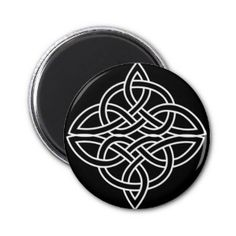 Black and White Celtic Design Magnets