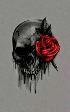 #skulls #roses