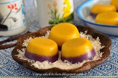 Copycake Kitchen: Steamed Pumpkin & Purple Sweet Potato Cake 双色金瓜紫蕃薯糕