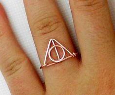 Harry Potter Ring deathly hallows Ring teen by WireBoutique2012