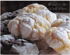~Under the Big Oak Tree~: My Vintage Kitchen: Gooey Butter Cookies Easy Birthday Desserts, Just Desserts, Delicious Desserts, Yummy Food, Baking Recipes, Cookie Recipes, Dessert Recipes, Dessert Ideas, Cake Ideas