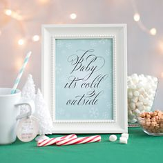 decorative sign - frosty style #evermine  Free Printable