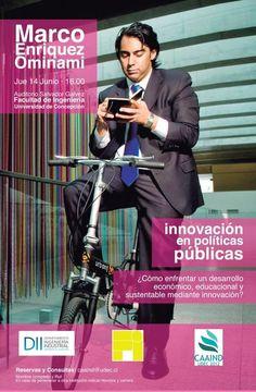 Jueves 14 de Junio / Marco Enriquez Ominami: Innovación en políticas públicas, ¿Cómo enfrentar un desarrollo económico, educacional y sustentable mediante innovación? http://www.agendabiobio.cl/2012/06/marco-enriquez-ominami-innovacion-en-politicas-publicas-como-enfrentar-un-desarrollo-economico-educacional-y-sustentable-mediante-innovacion.html