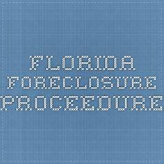 Florida foreclosure proceedure