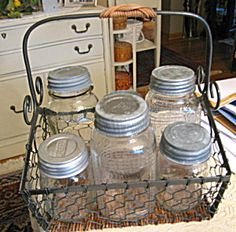 Vintage Mason jars for sale at More Than McCoy at http://www.morethanmccoy.com